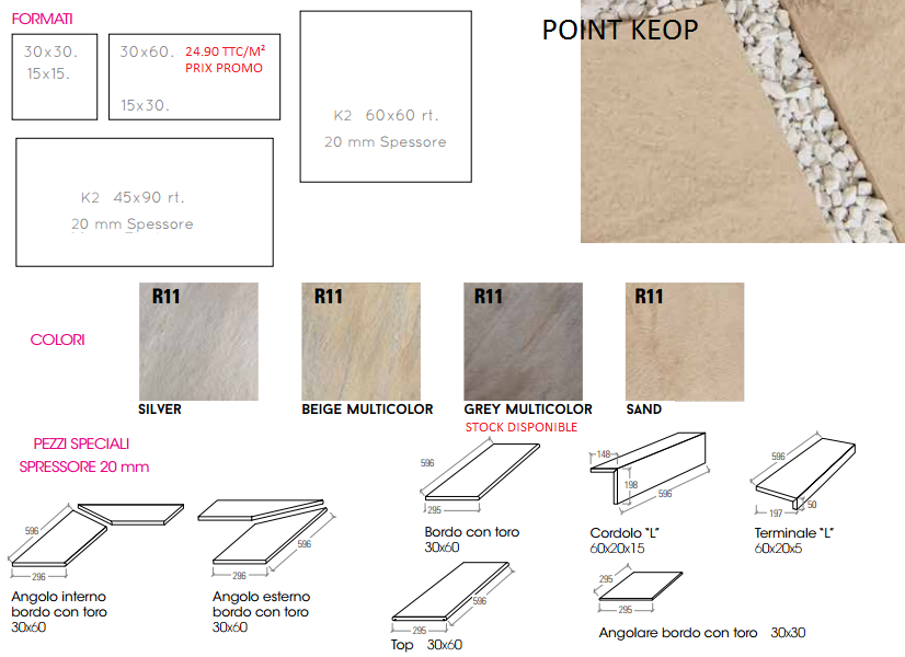 POINT _ A PARTIR DE 24.90 TTC/M²